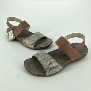 Mephisto Air Relax Animal Print Buckle Sandals